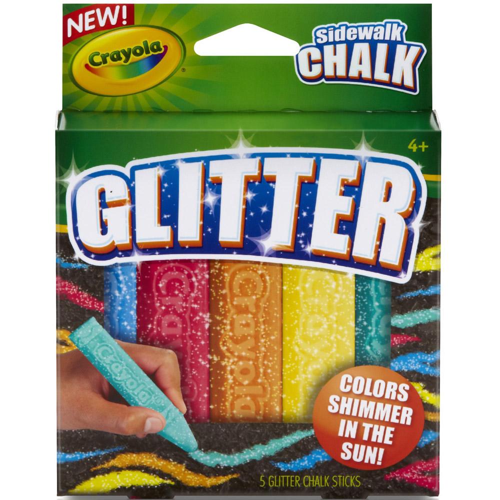 Мел Crayola Для асфальта с блестками<br>
