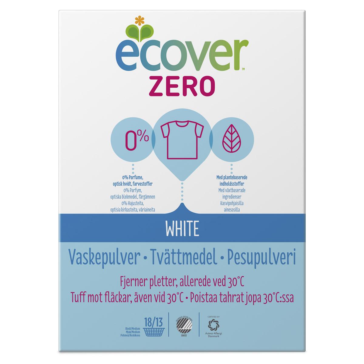 Стиральный порошок Ecover 750 гр. Zero для белого белья<br>