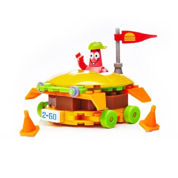 Игровой набор Mega Bloks Губка Боб Патрик и Бургермобиль<br>