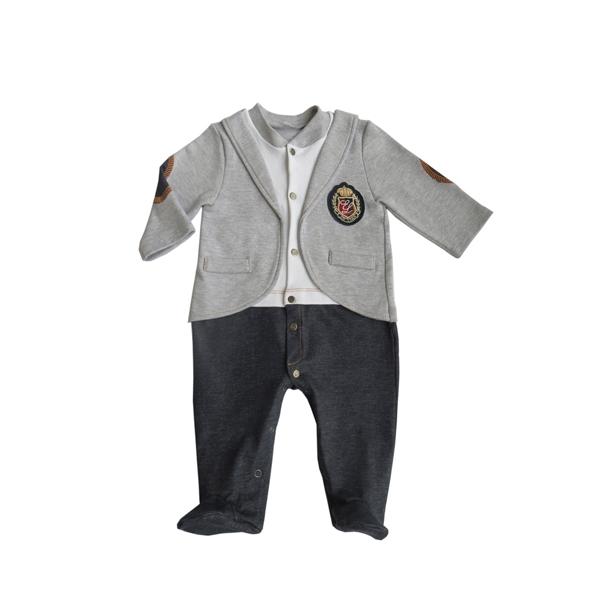 Комбинезон Soni kids Джинсовый спорт с жакетом рост 74 серый<br>