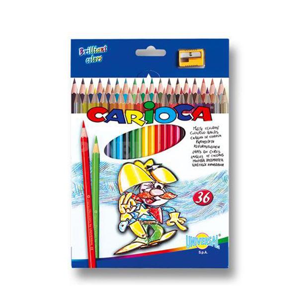 Набор карандашей цветных CARIOCA 36 цветов и точилка<br>