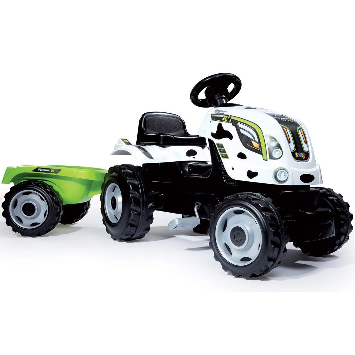 Трактор педальный Smoby XL с прицепом Пятнистый 142х44х54.5 см<br>