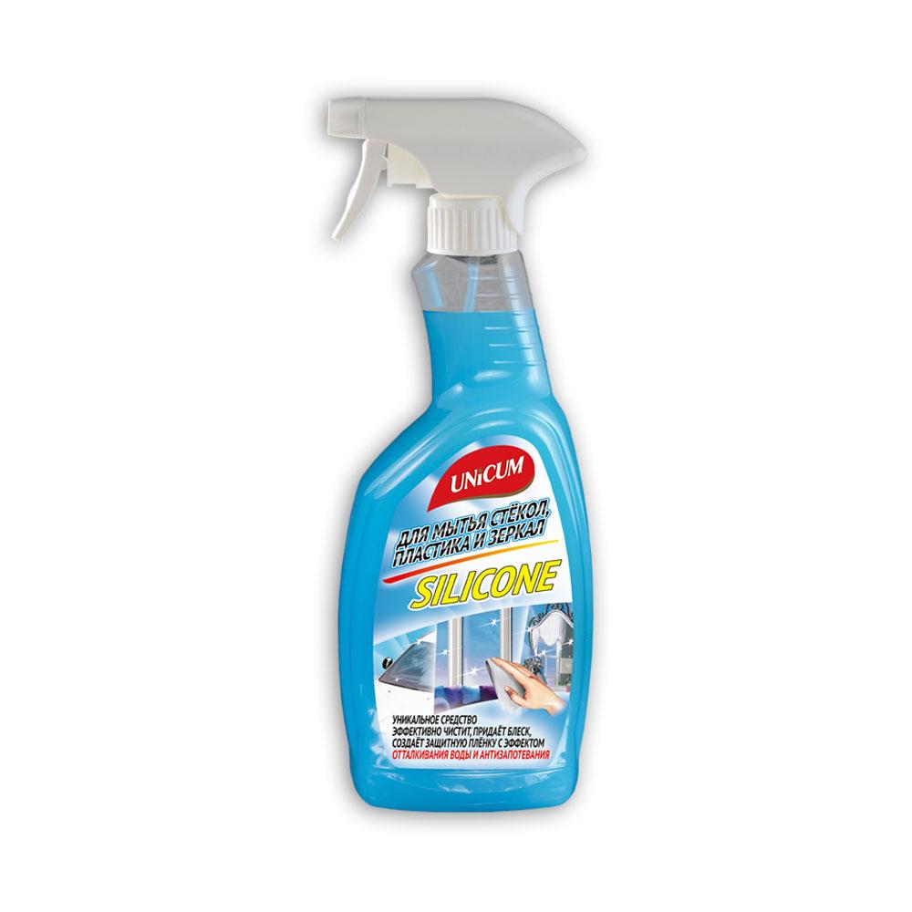 Спрей-силикон Unicum для мытья зеркал и окон 750 мл<br>