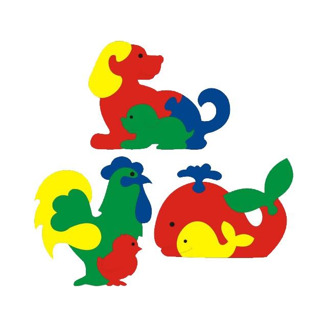 Мозаика Флексика Фигурки животных (3 шт.)<br>