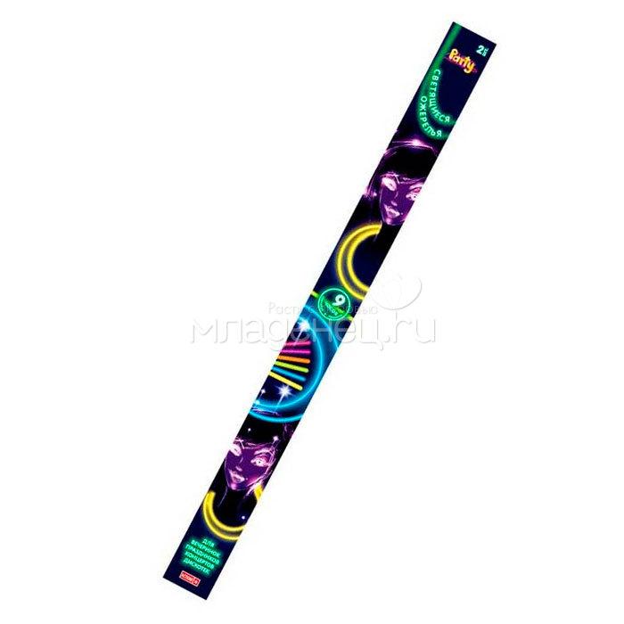 Светящиеся аксессуары ACTION! Набор разноцветных светящихся ожерелий 2 шт. 56 см.