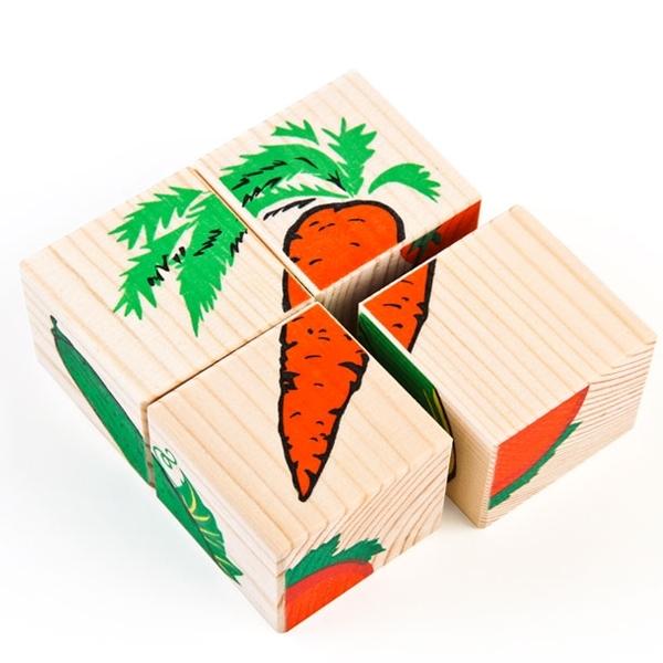 Кубики Томик Овощи (4 кубика)<br>