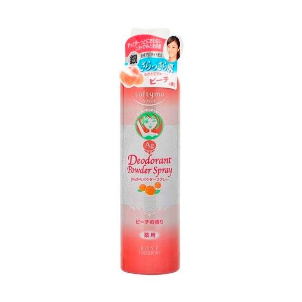 Дезодорант-антиперспирант сухой Marusan Kose SOFTYMO с ионами серебра аромат персика<br>