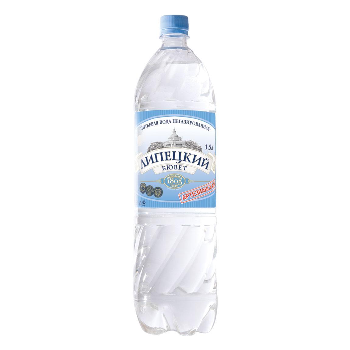 Вода питьевая Липецкий Бювет Негазированная 1,5 л (пластик)<br>