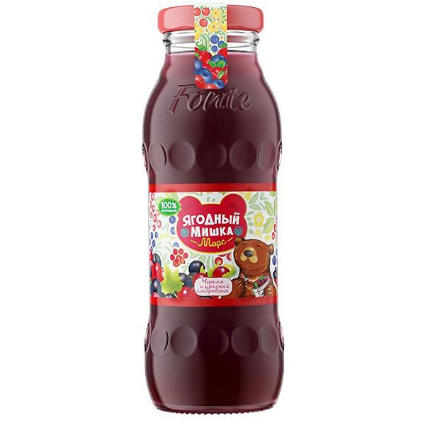 Морс Ягодный Мишка с натуральным соком 0,2 л Черная и красная смородина (с 3 лет)<br>