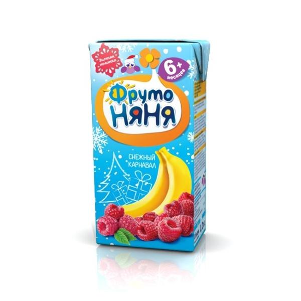 Нектар Фрутоняня 200 мл Банан яблоко вишня малина с мякотью (с 6 мес)<br>