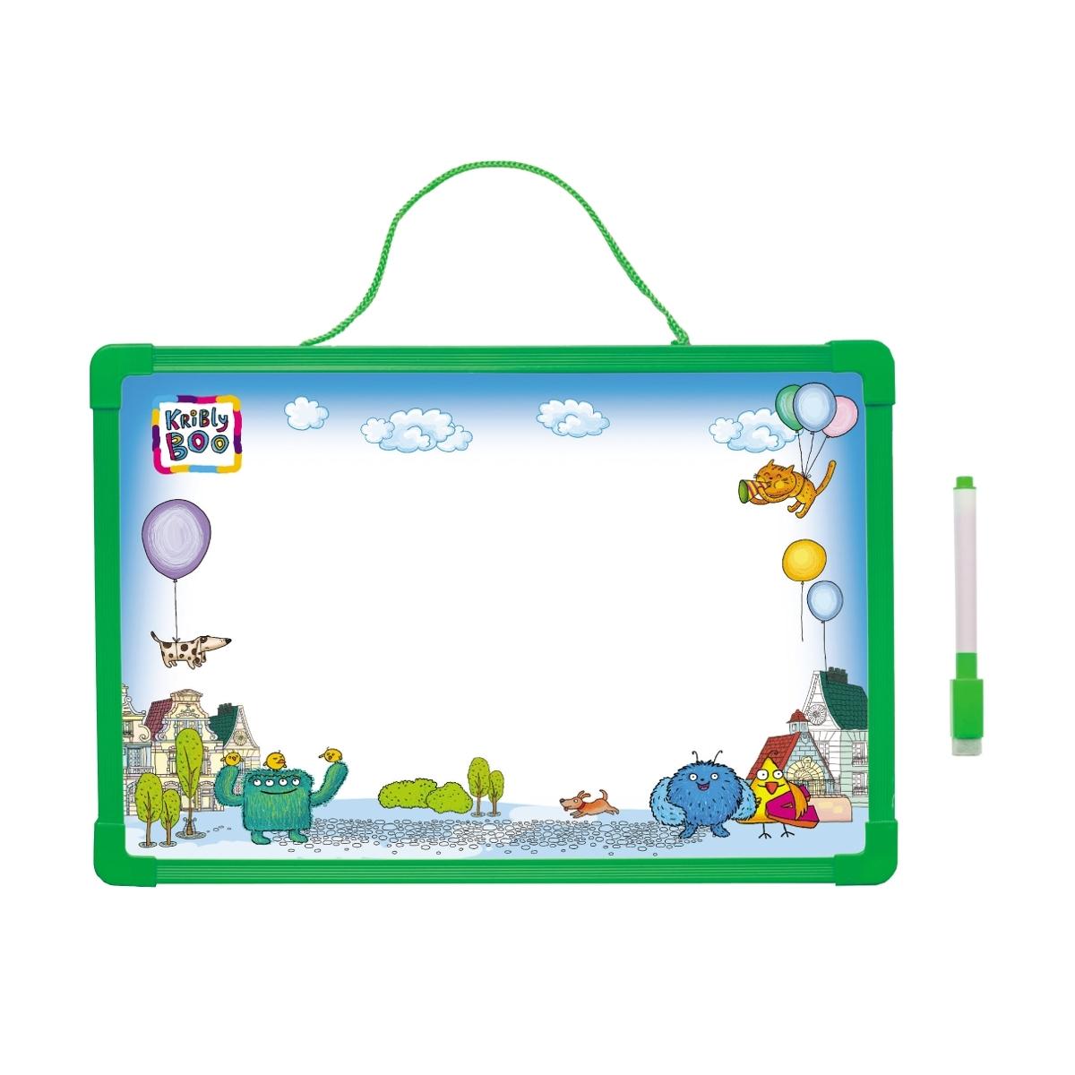 Доска для рисования Kribly Boo с алфавитом и маркером В ассортименте (Зеленая, Синяя, Красная)<br>