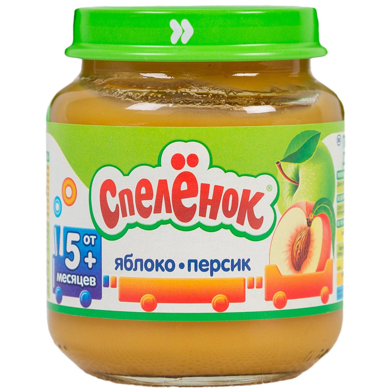 Пюре Спеленок фруктовое 125 гр Яблоко с персиком (с 4 мес)<br>
