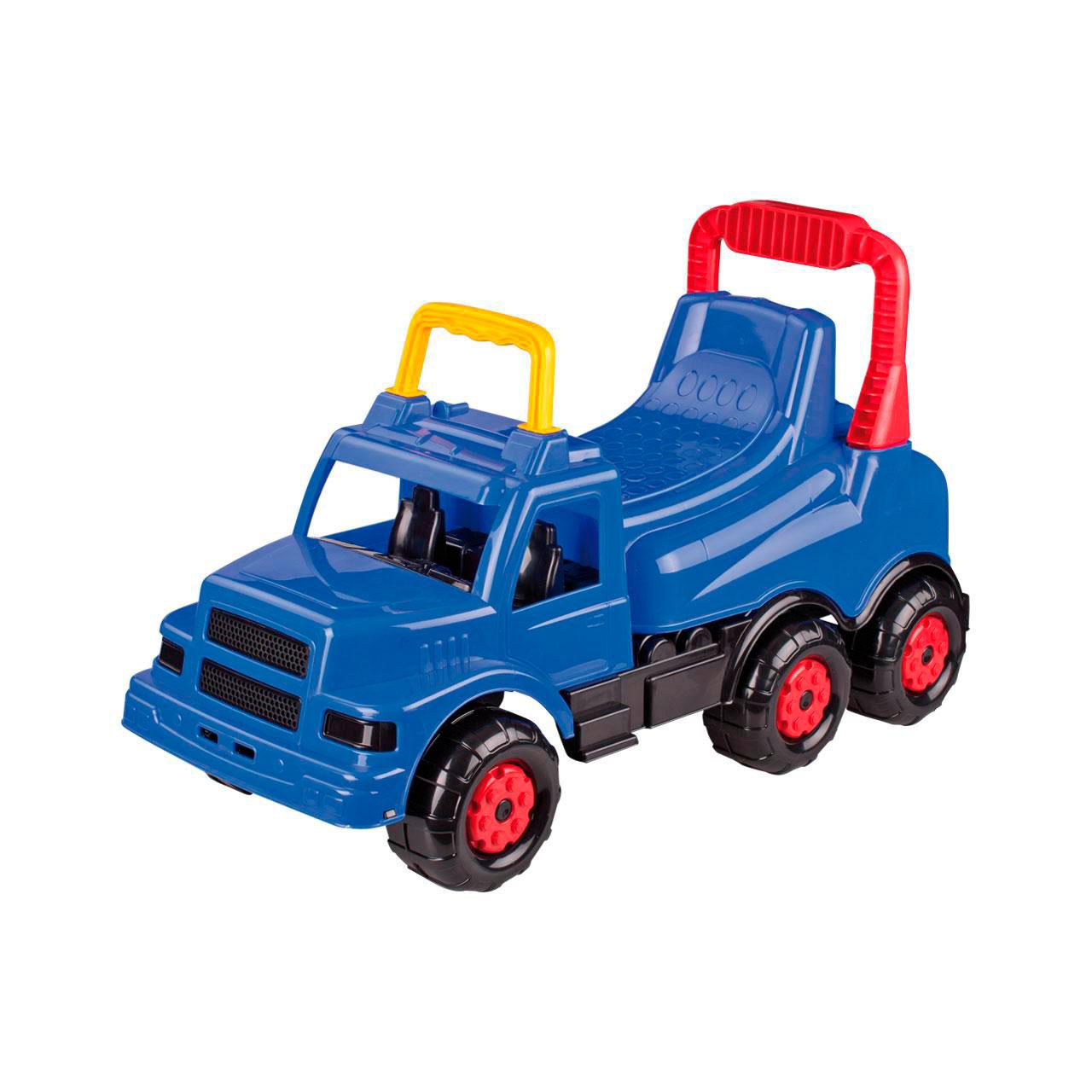 Каталка Альтернатива Машинка Веселые гонки Синяя для мальчиков