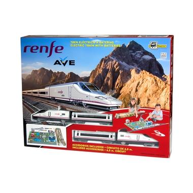 Железная дорога Pequetren 6,5 м восьмерка - 1локомоти, 3 вагона, светофор, тоннель, стрелочный перевод