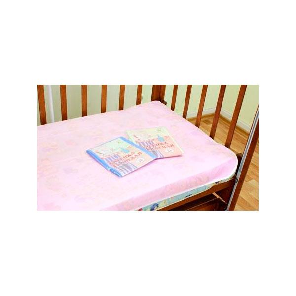 Клеёнка Осьминожка тканевая с резинкой дышащая Розовая<br>