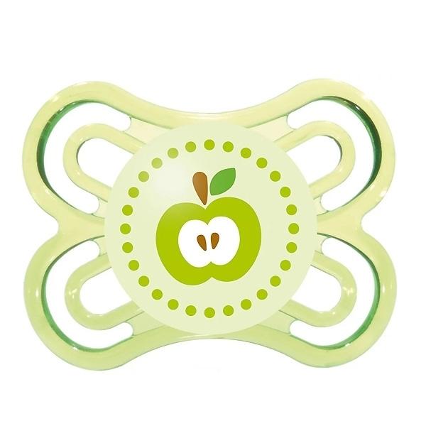 Пустышка MAM Perfect Силиконовая (0-6 мес) зеленая (яблоко)<br>