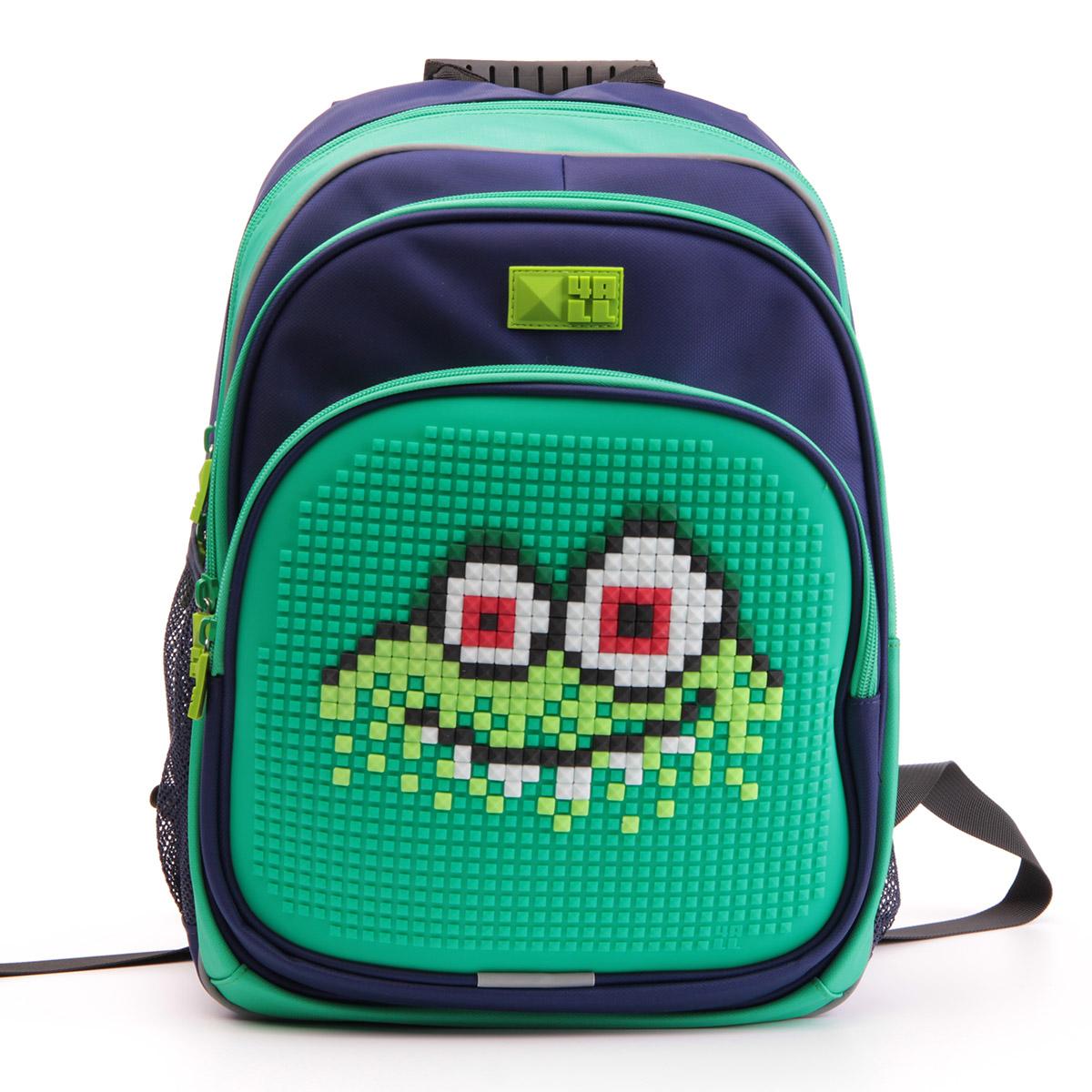 Рюкзак детский 4all KIDS Монстр Водяной Зеленый / Темно-синий + Пиксели<br>
