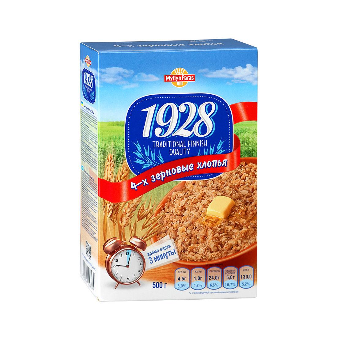 Хлопья Myllyn Paras 4 зерновые (с 12 мес) 500 гр<br>