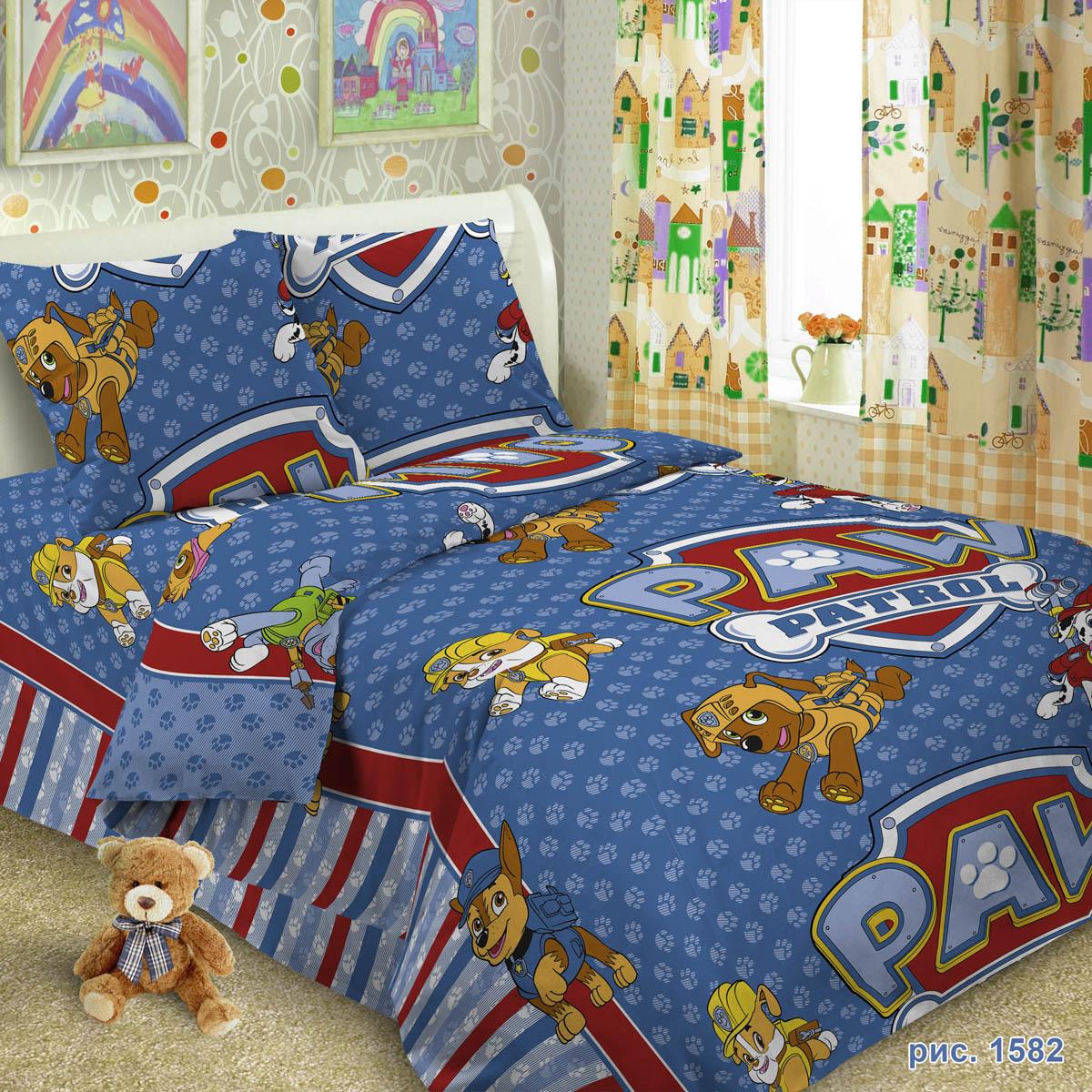 Комплект постельного белья детский Letto Догги Голубой<br>