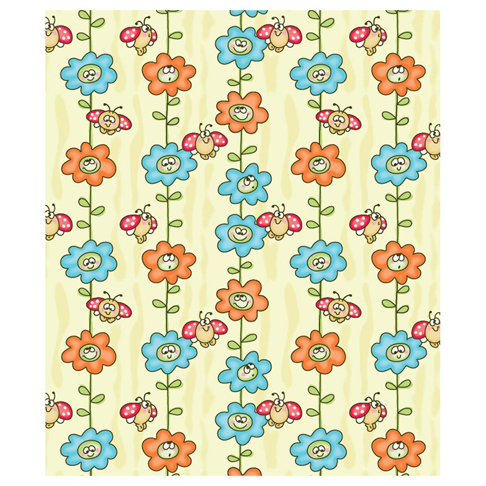 Одеяло Baby Nice байковое 100% хлопок 100х118 Божья коровка на цветке Желтый<br>