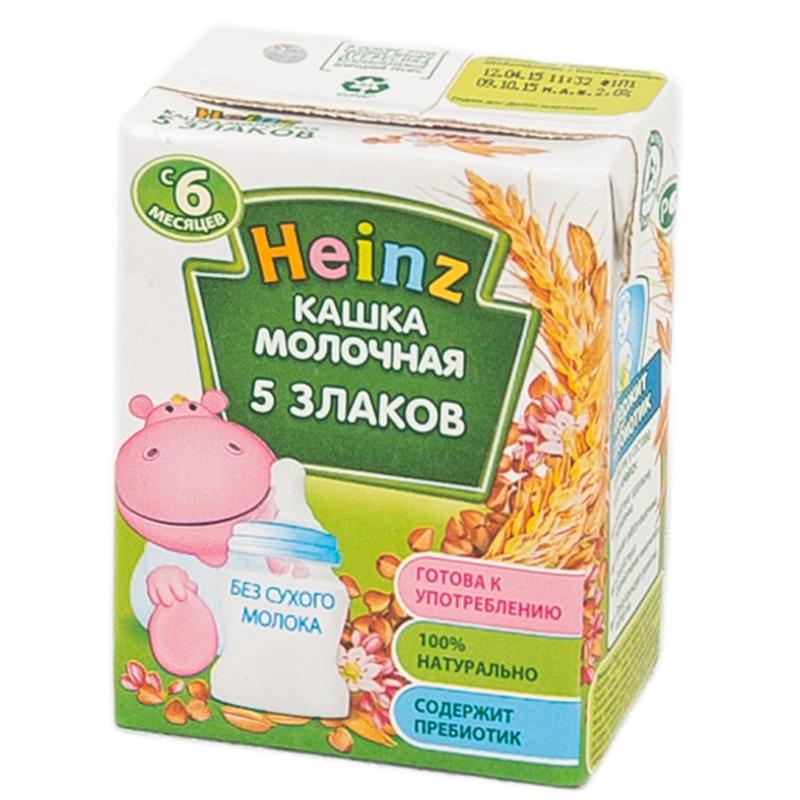 Каша Heinz молочная 200 мл (готовая) Многозерновая (с 6 мес)<br>