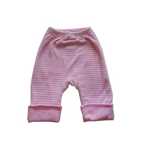 """Штанишки утепленные Soni Kids """"Веселые полосатики"""", цвет розовый, полоска 6-9 мес."""
