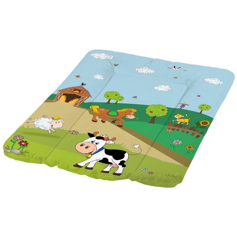 Пеленальный матрасик OKT с мягким основанием 50х70 Весёлая Ферма Зеленый<br>