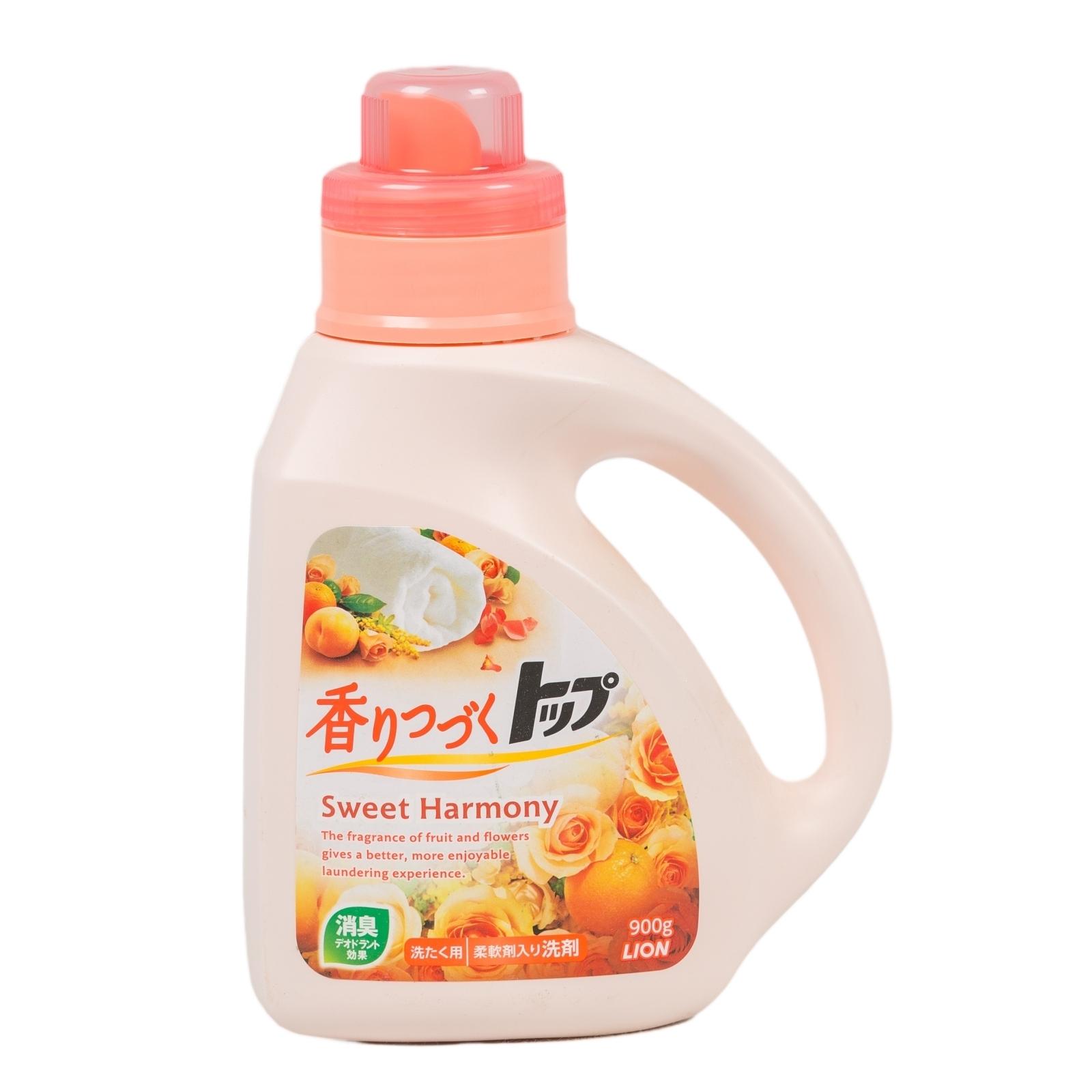 Жидкое средство для стирки Lion ТОР 900 мл. Sweet Harmony (Сладкая гармония)<br>