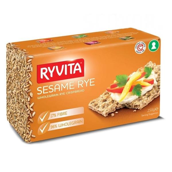 Хлебцы RYVITA 250 гр Из цельного зерна c кунжутом Sesame 12 шт<br>