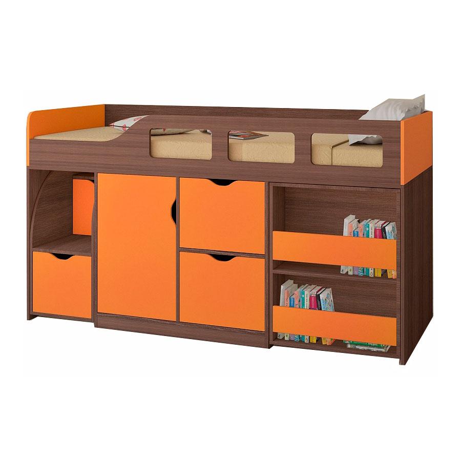 Набор мебели РВ-Мебель Астра 8 Дуб шамони/Оранжевый<br>