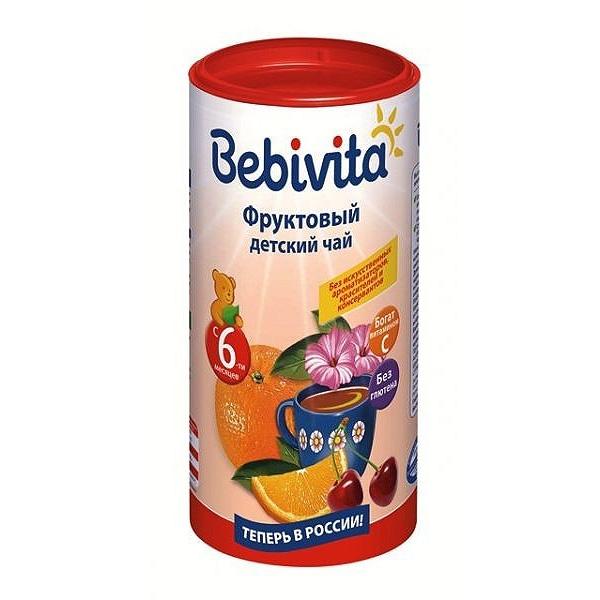 Чай детский Bebivita быстрорастворимый 200 гр Фруктовый (с 6 мес)<br>