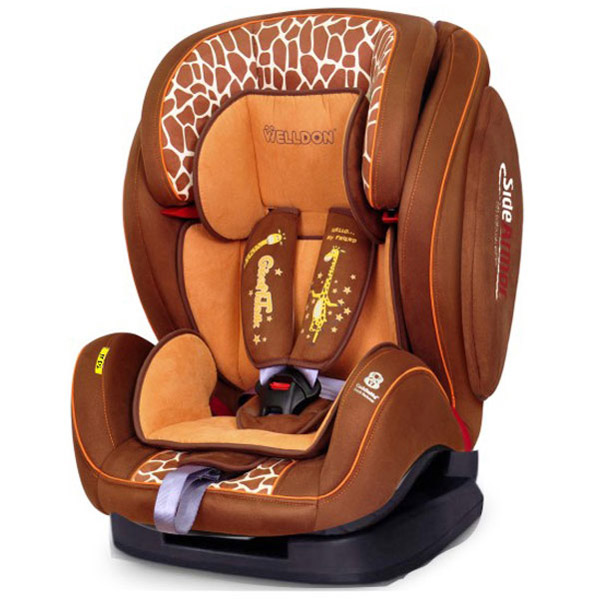 Автокресло Welldon SideArmor &amp;amp; CuddleMe BS07-BCE 2801-4461-2401 Giraffe talk<br>