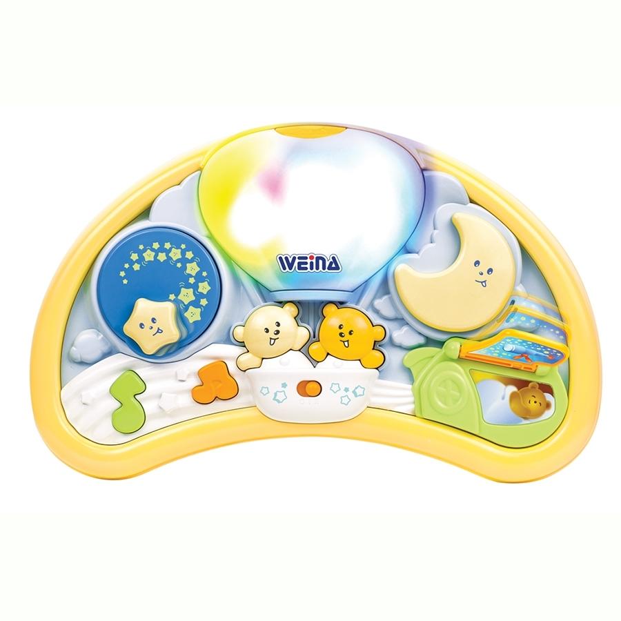 Ночник Weina музыкальный Мишки на воздушном шаре<br>