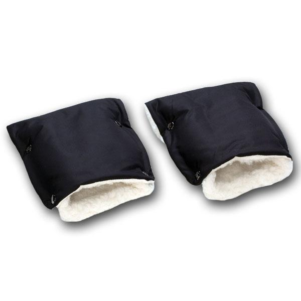 Муфты-рукавички Чудо-Чадо меховые Черный<br>