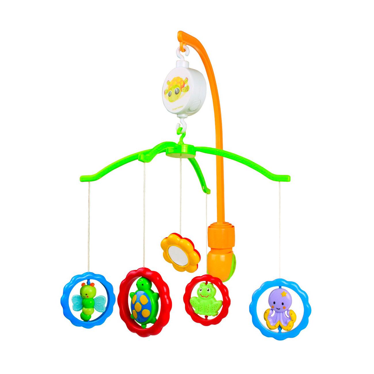Мобиль Canpol Babies музыкальный Животные с зеркалами<br>
