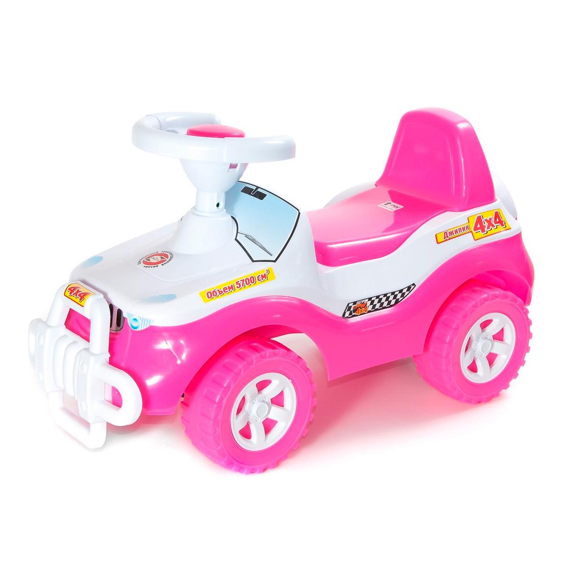 Каталка-автомобиль RT Джипик ОР105 с клаксоном Розовая<br>