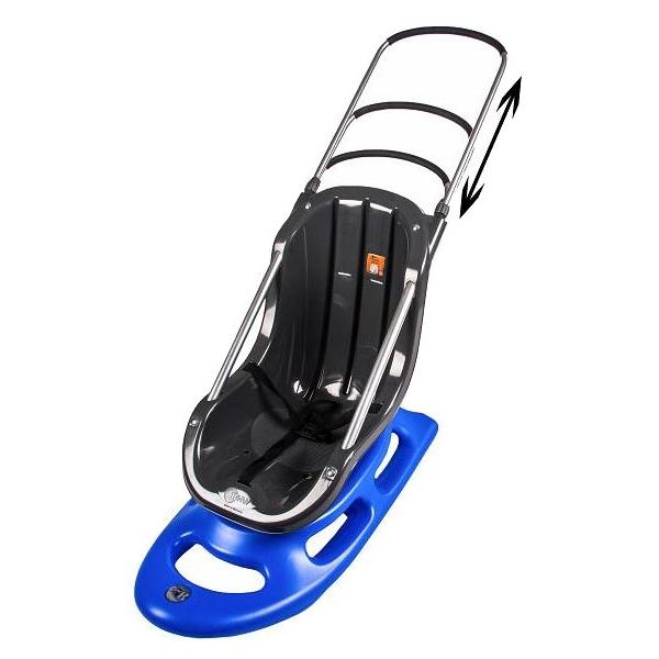 Санки KHW Snow Baby Fun mit Licht 29520 Синие с ручкой со светодиодами<br>