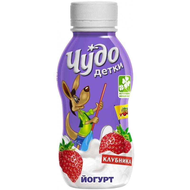 Йогурт Чудо Детки 200 гр Клубника (с 3 лет)<br>