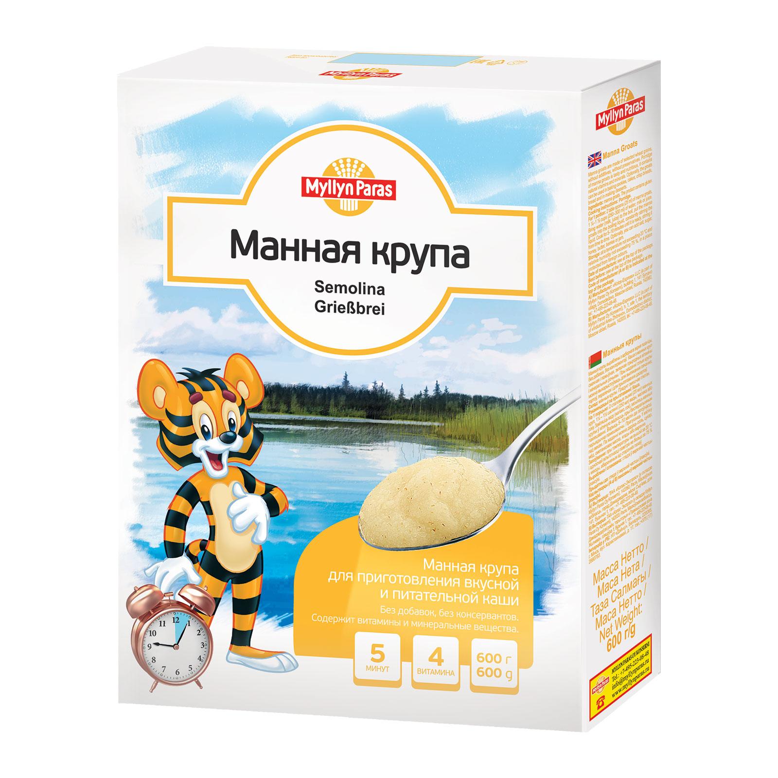Крупа Myllyn Paras Манная (с 12 мес) 600 гр<br>