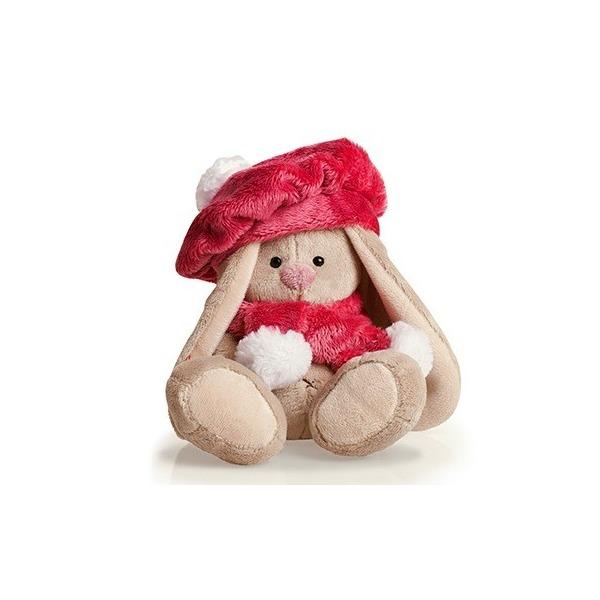 Мягкая игрушка Зайка Ми в красной беретке 15 см