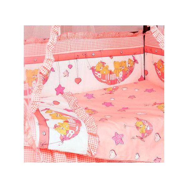 Комплект Папитто Мишки 7 предметов Розовый<br>