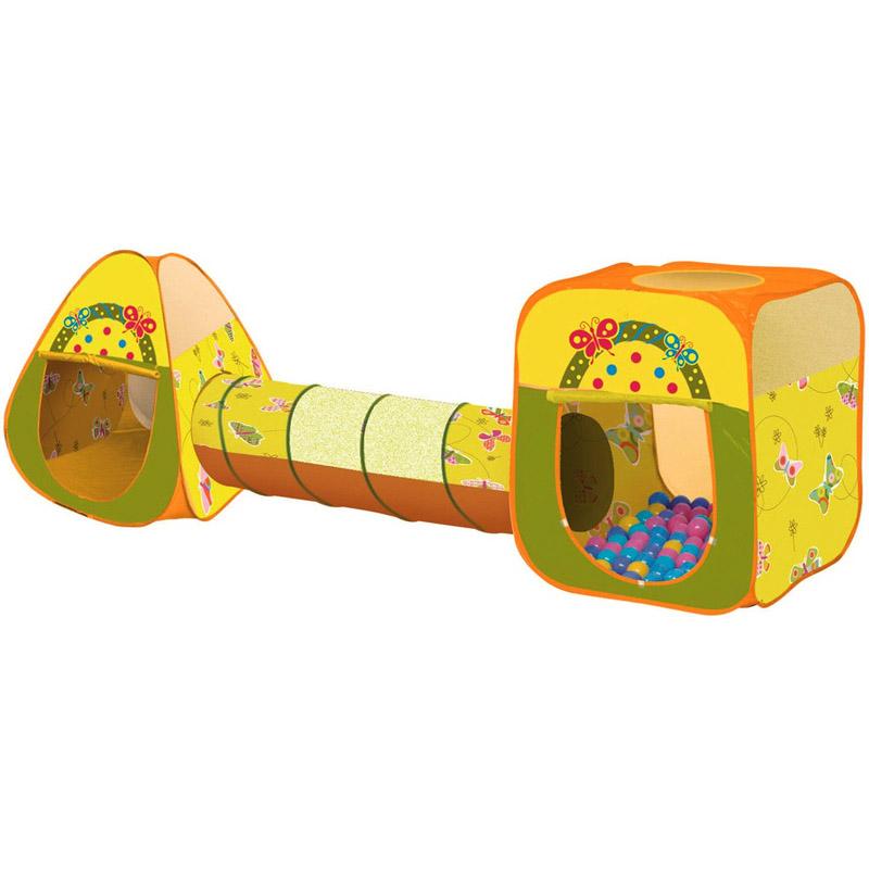 Игровой Дом Alis Бабочка с шарами 100шт Треугольник+квадрат+туннель CBH-24<br>