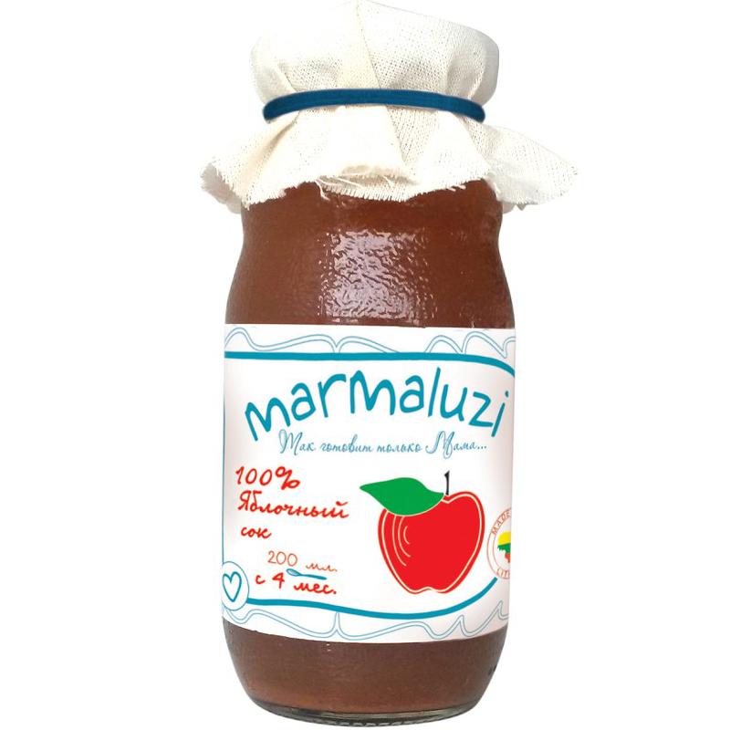 Сок Marmaluzi 200 мл Яблоко (с 4 мес)