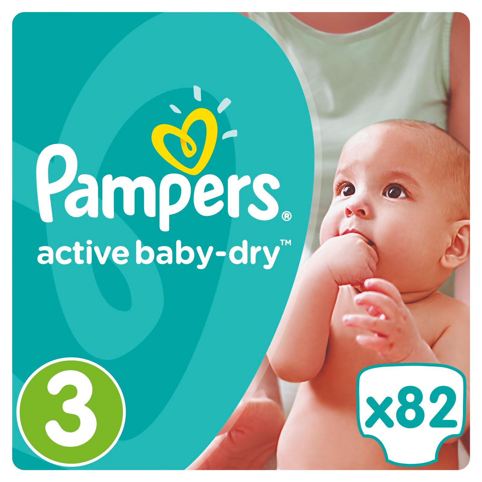 Подгузники Pampers Active Baby Midi 5-9 кг (82 шт) Размер 3<br>