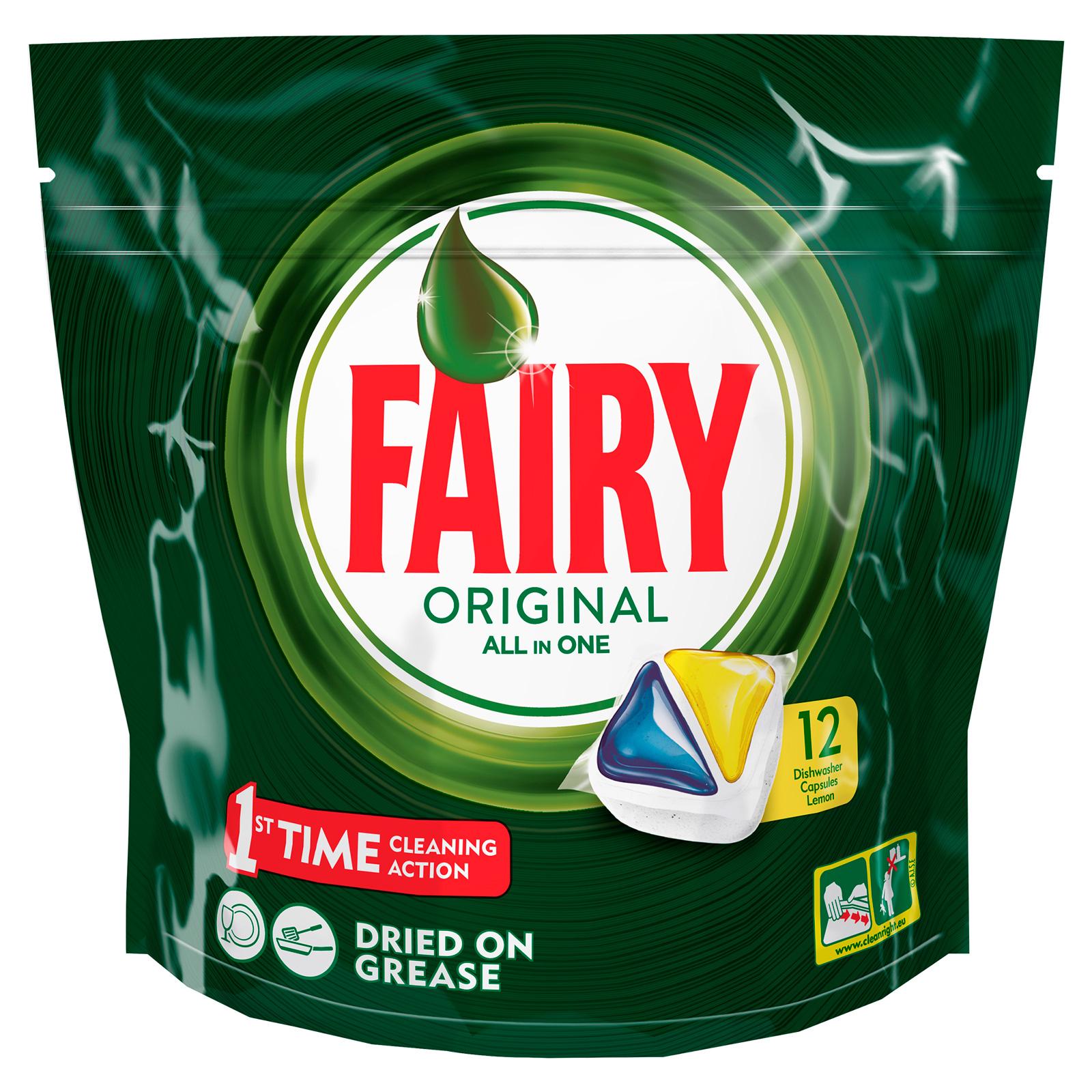 Капсулы для посудомоечной машины FAIRY Original All In One Лимон (12 шт)<br>