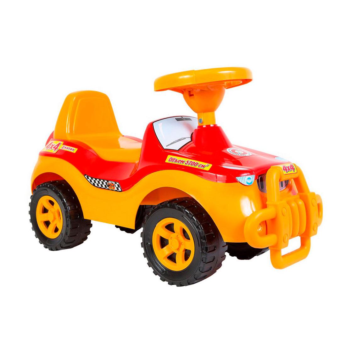 Каталка-автомобиль RT Джипик ОР105 с клаксоном Красная<br>