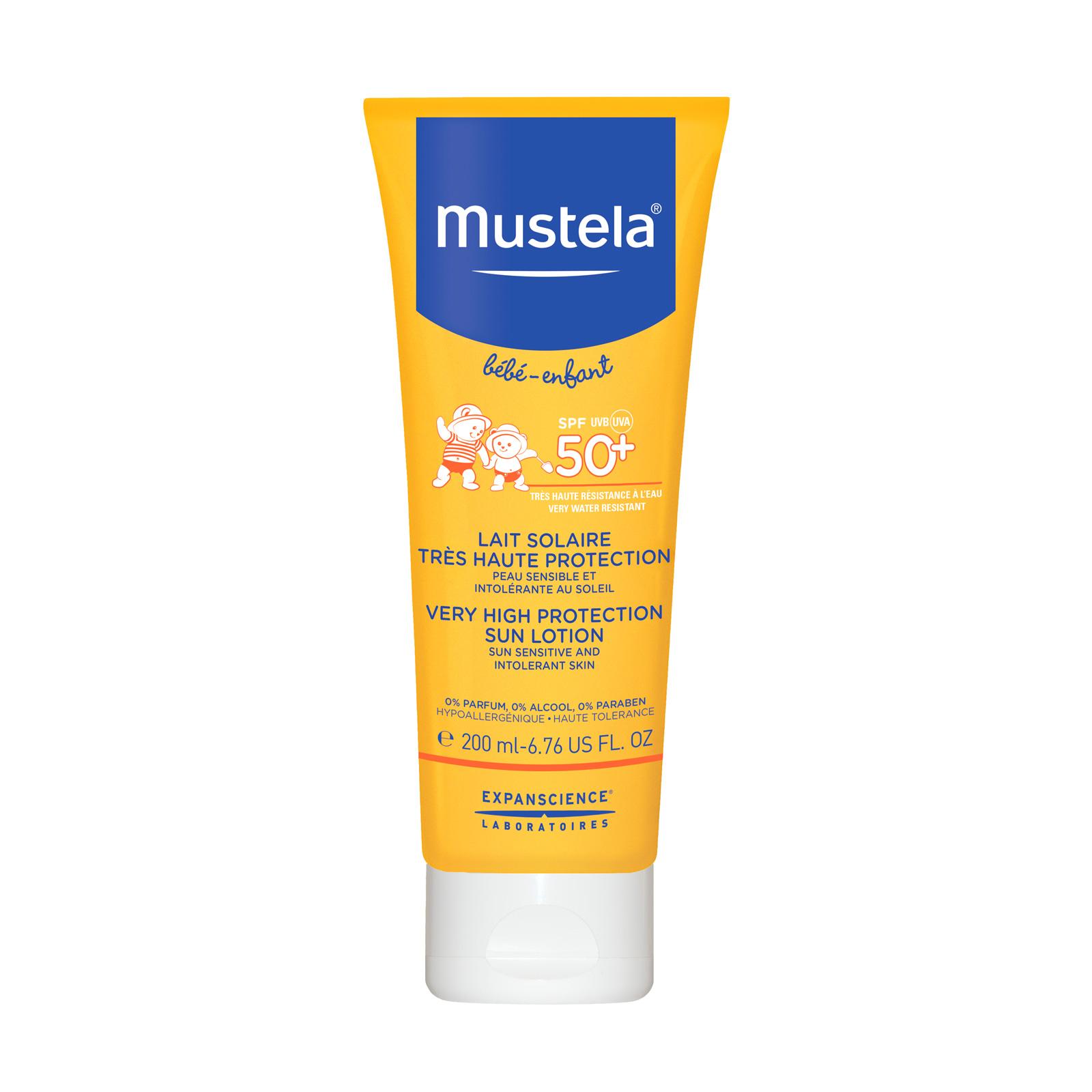 Молочко солнцезащитное SPF 50+ Mustela Sun 200 мл<br>