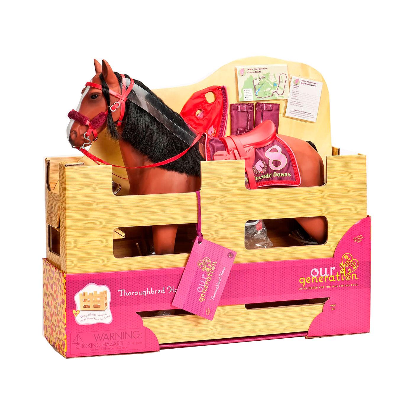 Лошадь Our Generation Лошадь Our Generation породы Американская Чистокровная 50см с аксессуарами<br>