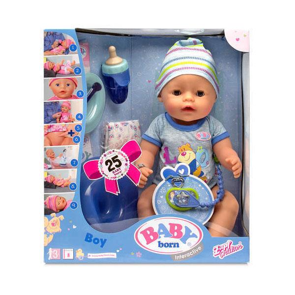 Кукла Zapf Creation Baby Born Интерактивная Мальчик 43 см<br>