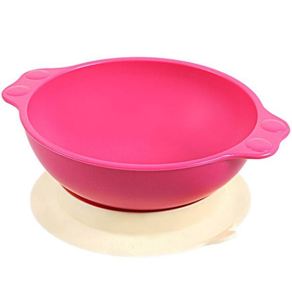 Миска UINLUI На присоске (розовая)<br>